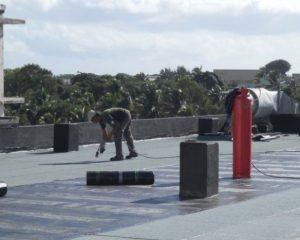 Hot waterproofing