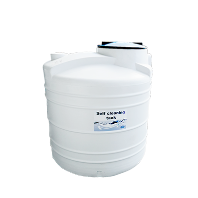 Self cleaning water tank