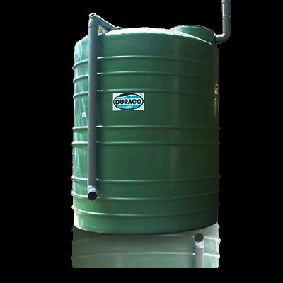 Integrated filter rain water tank