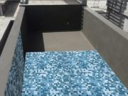 Concrete pool waterproofing