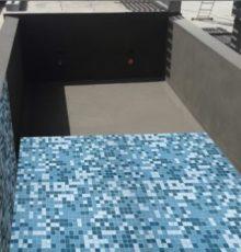 Concrete pool waterproofing