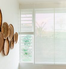 Indoor bamboo blinds