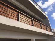 Rafia blinds for balustrades
